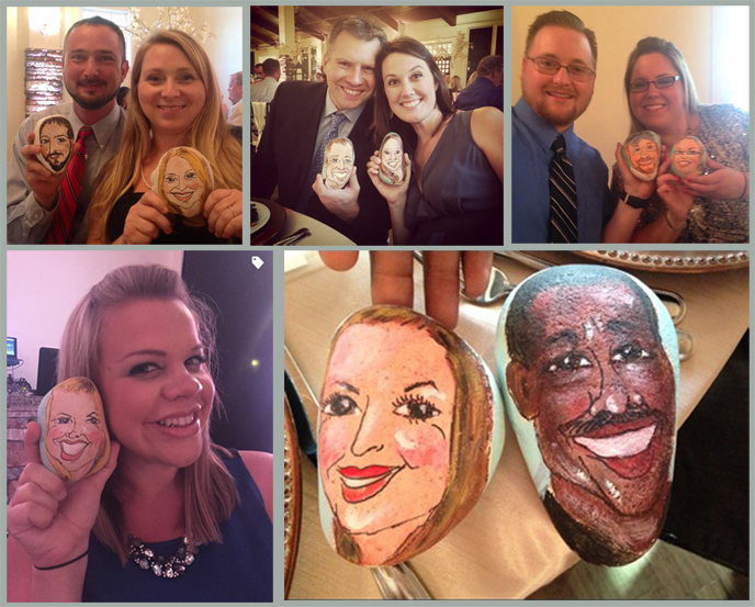 Wedding, wedding reception, caricature, Smiling Faces id=